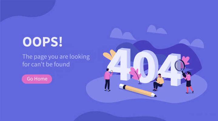 Lỗi 404 trên website