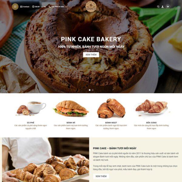 Mẫu web bán bánh ngọt