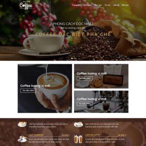 Mẫu web bán cà phê 1