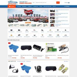 Mẫu web bán đồ chơi xe 2