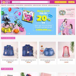 Mẫu web bán đồ trẻ em