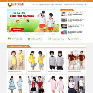 Mẫu web bán đồng phục