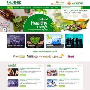 Mẫu web bán dược phẩm 2