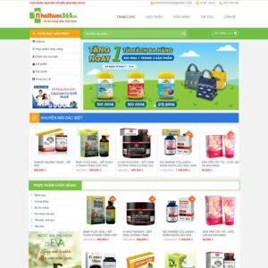 Mẫu web bán dược phẩm 3