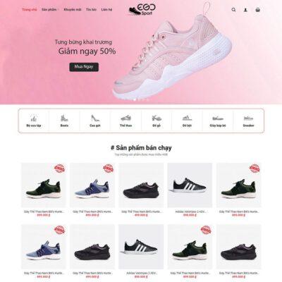 Mẫu web bán giày