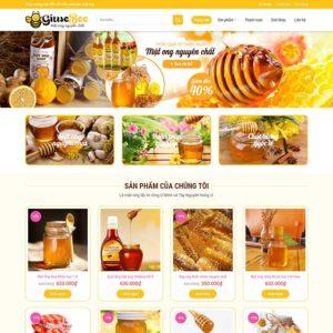Mẫu web bán mật ong