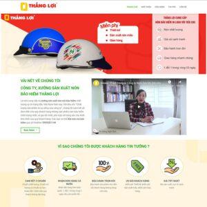 Mẫu web bán nón bảo hiểm