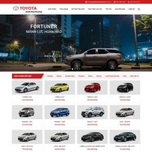 Mẫu web bán oto Toyota