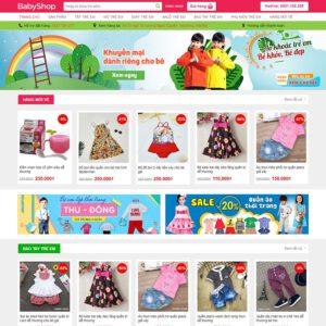 Mẫu web bán quần áo trẻ em