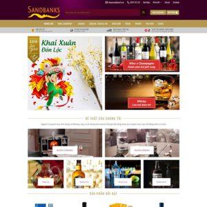 Mẫu web bán rượu