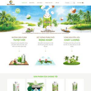 Mẫu web bán sản phẩm từ dừa