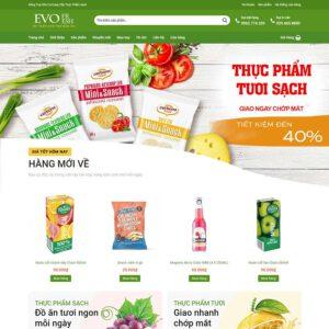 Mẫu web bán thực phẩm 2