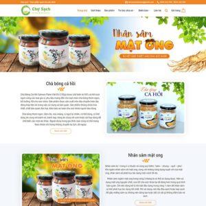 Mẫu web bán thực phẩm chức năng 1