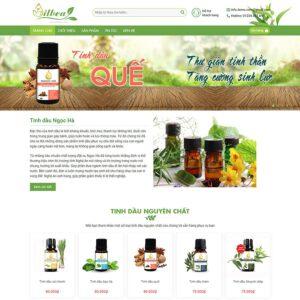 Mẫu web bán thực phẩm chức năng 2
