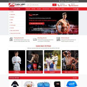 Mẫu web bán trang phục võ thuật