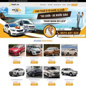 Mẫu web bán xe 1
