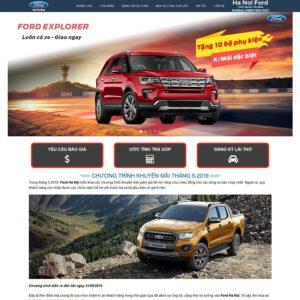 Mẫu web bán xe Ford