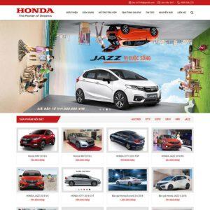 Mẫu web bán xe Honda