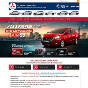 Mẫu web bán xe Huyndai 1
