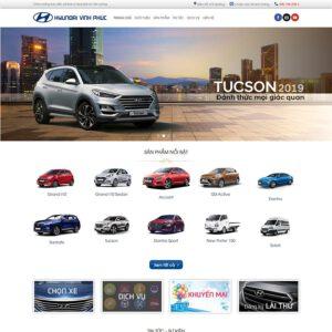 Mẫu web bán xe Huyndai 2