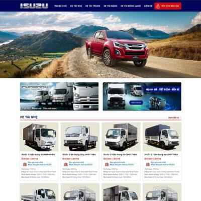 Mẫu web bán xe Isuzu