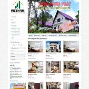 Mẫu web bất động sản 12