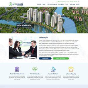 Mẫu web bất động sản 14