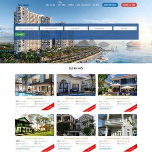 Mẫu web bất động sản 2