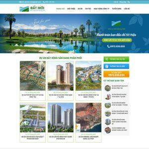 Mẫu web bất động sản 20