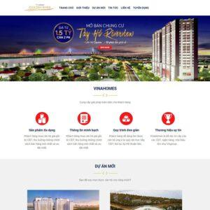 Mẫu web bất động sản 21
