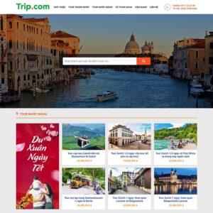 Mẫu web du lịch 1