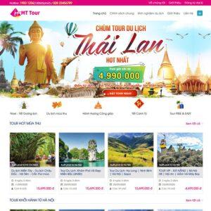 Mẫu web du lịch 2