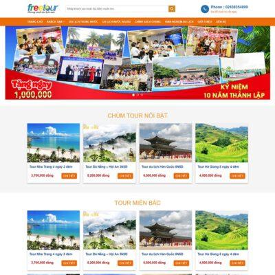 Mẫu web du lịch 3