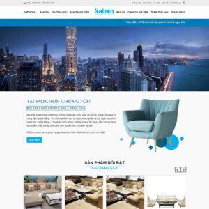 Mẫu web nội thất 2