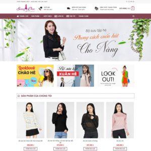 Mẫu web thời trang 14