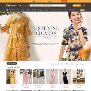 Mẫu web thời trang 2