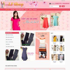 Mẫu web thời trang 5
