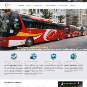Mẫu web thuê xe du lịch 2