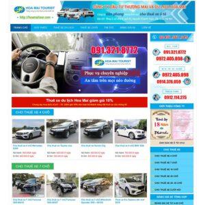 Mẫu web thuê xe du lịch 3