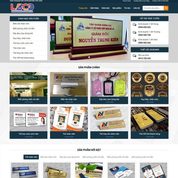 Mẫu web bán biển chức danh