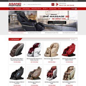 Mẫu web bán ghế matxa