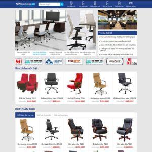 Mẫu web bán ghế văn phòng