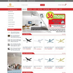 Mẫu web bán quạt trần