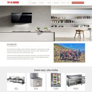 Mẫu web bán thiết bị nhà bếp