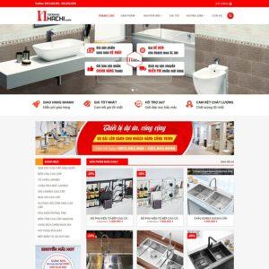 Mẫu web bán thiết bị vệ sinh 2