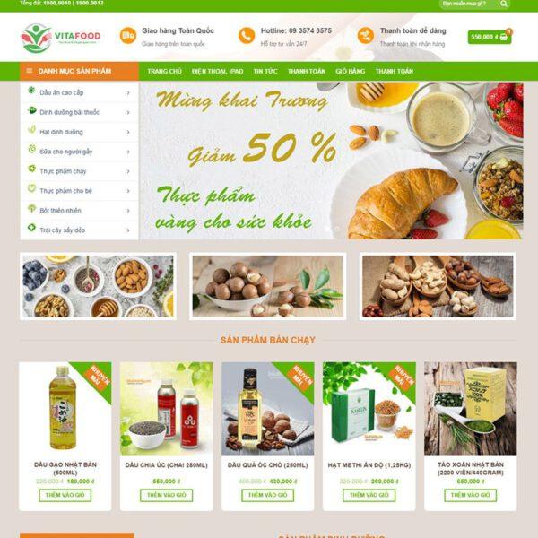 Mẫu web bán thực phẩm chức năng 11