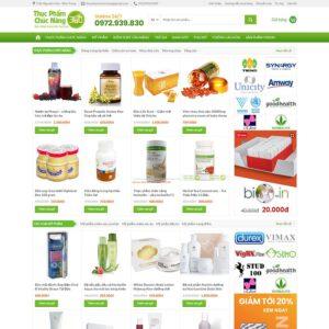 Mẫu web bán thực phẩm chức năng 4