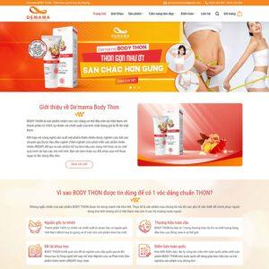 Mẫu web bán thực phẩm chức năng 8