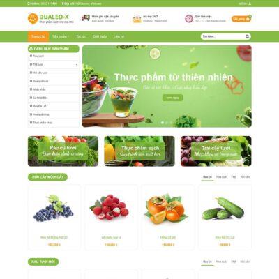 Mẫu web bán thực phẩm sạch