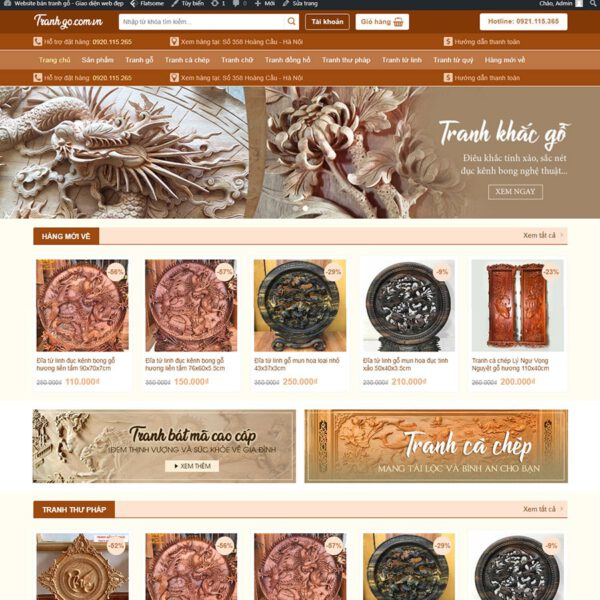 Mẫu web bán tranh gỗ